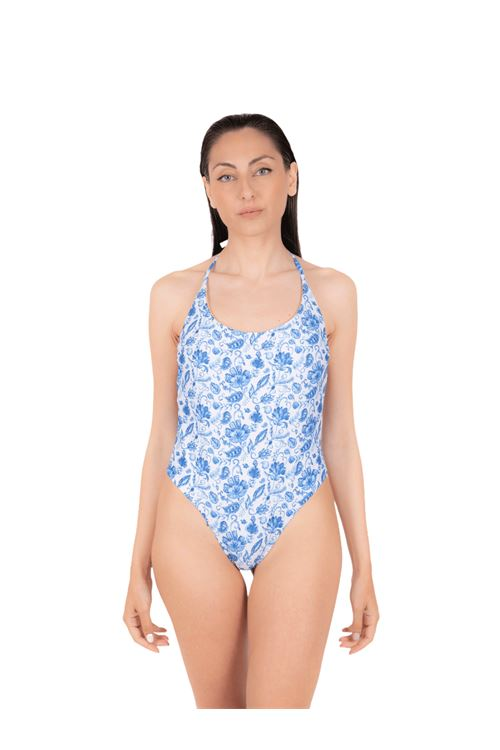 Swimsuit with high leg laces ANNAMARE | 5032240 | IN-504CELESTE