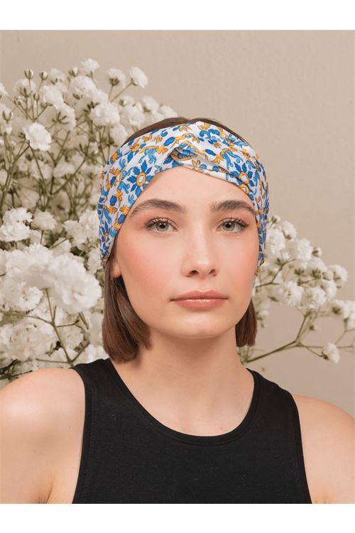 Patterned turban ANNAMARE | 5032238 | TU-801BIANCO
