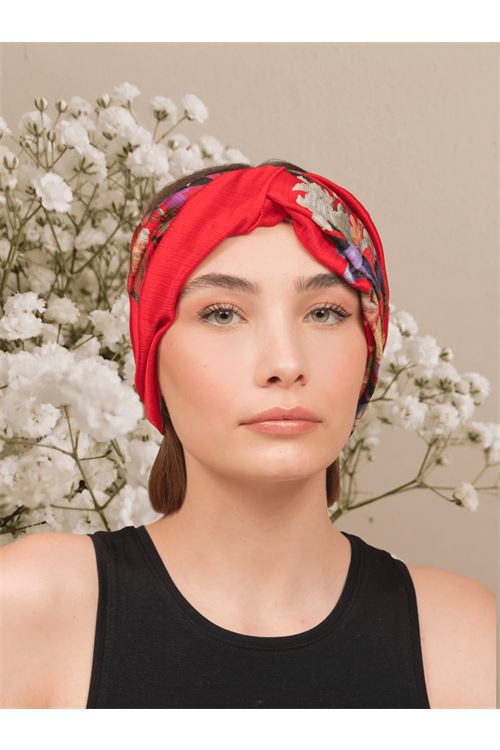 Patterned turban ANNAMARE | 5032238 | TU-801FANTASIA ROSSO