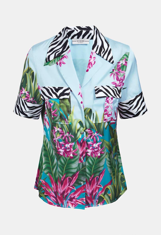 Camicia celeste guess GUESS   Camicie   W0YH68WD0X0AZZURO