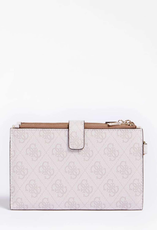 portafoglio logato rosa GUESS borse | Portafogli | SG8123570LATTE