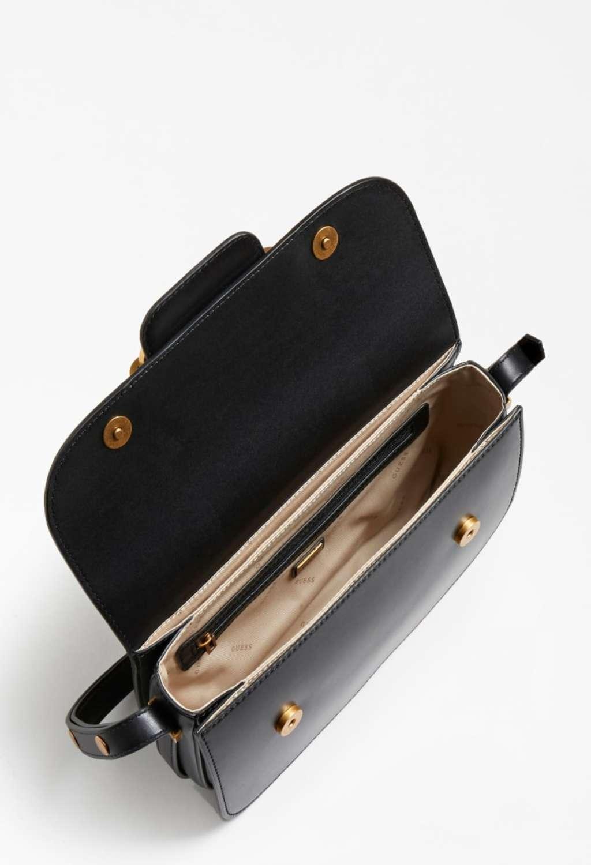 Tracolla nera in ecopelle GUESS borse   Borse   VB8113210NERO