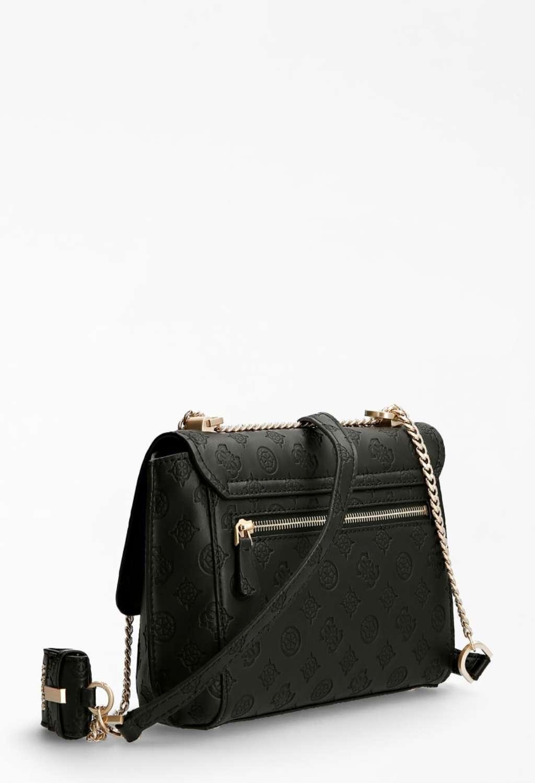 Tracolla incisa nera GUESS borse | Borse | VS8132210NERO