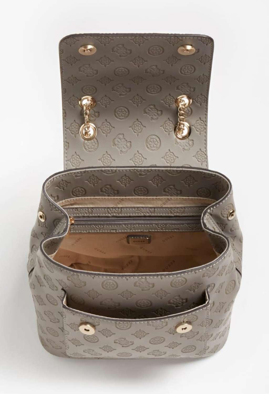 Zaino grigio scuro inciso GUESS borse   Borse   VS8132320TAUPE