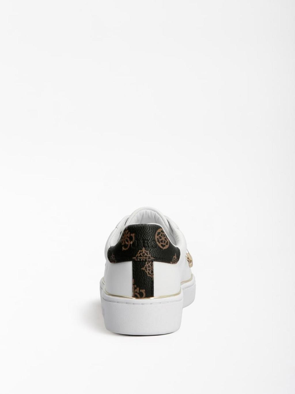 Sneaker bianca e oro GUESS SCARPE   Scarpe   FL7BAAELE12BIANCO