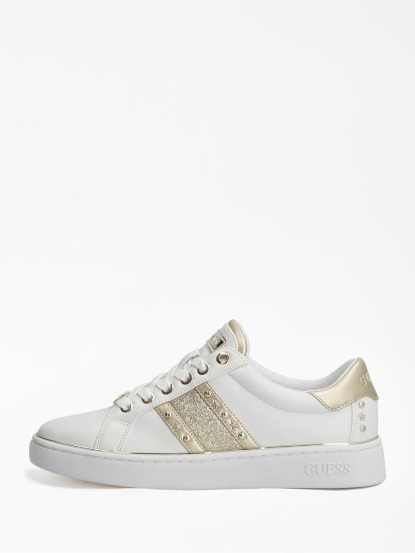 Sneaker bianca e oro GUESS SCARPE | Scarpe | FL7BVLELE12BIANCO