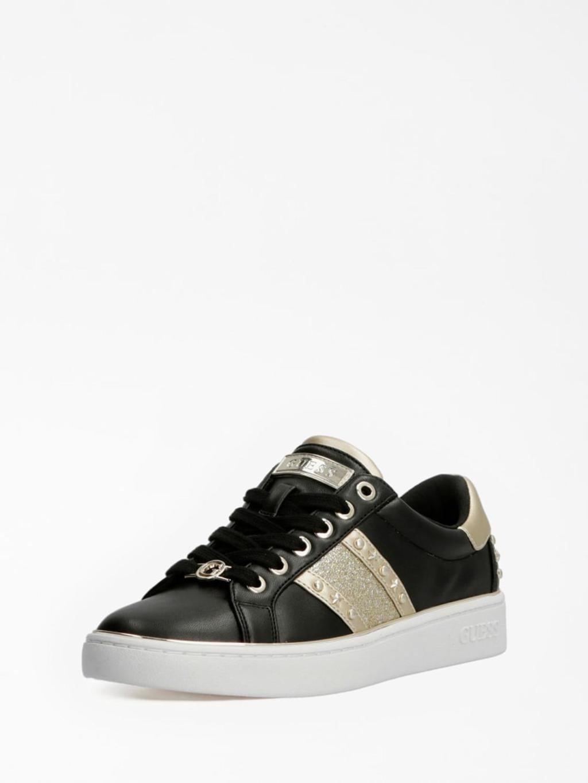 Sneaker nera e oro GUESS SCARPE   Scarpe   FL7BVLELE12NERO