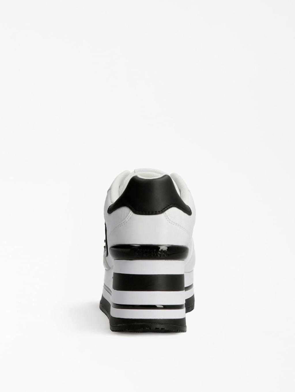 Platform bianca e nera GUESS SCARPE | Scarpe | FL7HEKELE12LOGO NERO