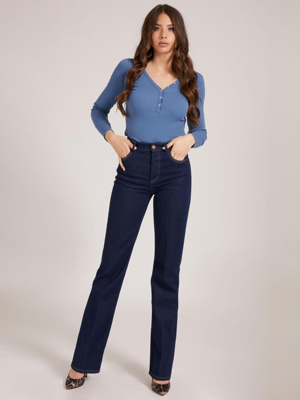 T-shirt blu a manica lunga GUESS | T-shirt | W0BP1SR9I51BLU