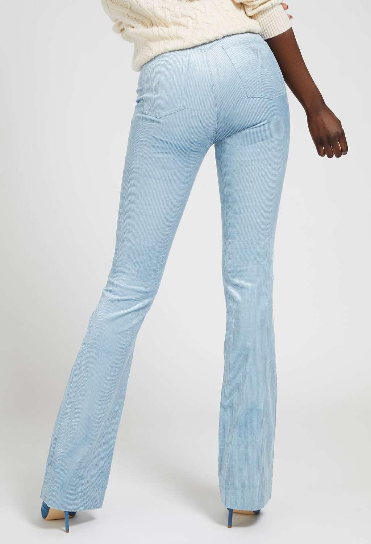 Pantalone a zampa celeste GUESS | Pantaloni | W1BA63WE5Y0AZZURO