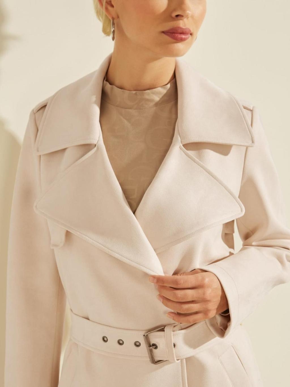 cappotto lungo beige GUESS | Capispalla | W1BL35WE4T0BEIGE