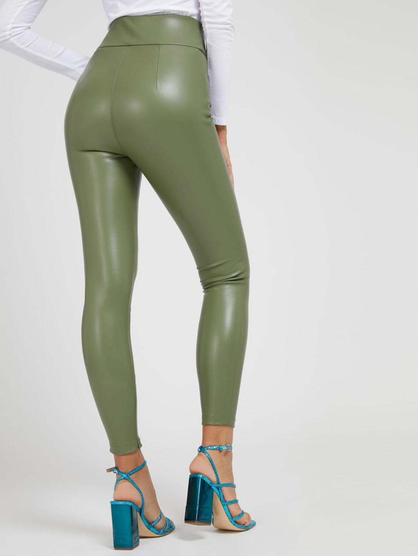 Pantalone verde in ecopelle GUESS   Pantaloni   W1RB25WBG60VERDE