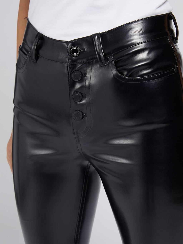 Pantalone nero in ecopelle GUESS   Pantaloni   W1YA28WE0X0NERO