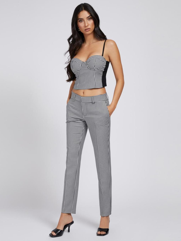 Pantalone a quadretti bianco e nero GUESS   Pantaloni   W1YB84WE0J2NERO