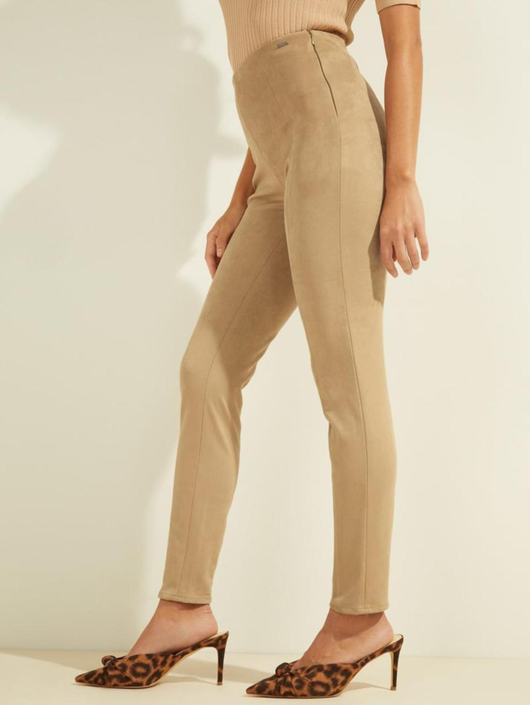 pantalone scamosciato beige GUESS | Pantaloni | W1YB90WE0L0BEIGE