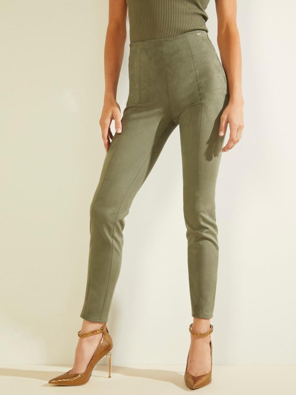 Pantalone scamosciato verde GUESS   Pantaloni   W1YB90WE0L0VERDE