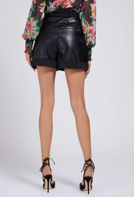 Pantaloncino nero GUESS | Gonna e Shorts | W1YD49WE0C0NERO