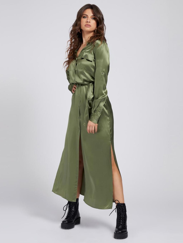 abito verde in seta GUESS | Abiti | W1YK1BWE1K0VERDE