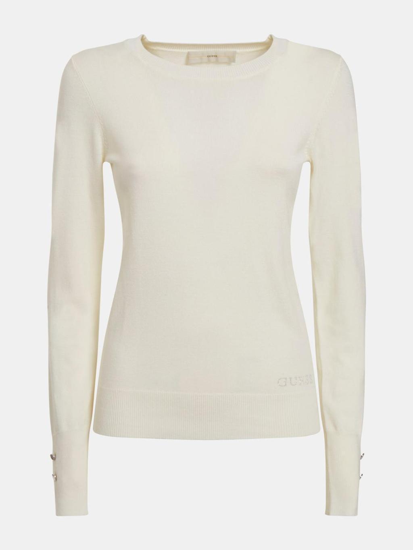 Maglione bianco GUESS   Maglieria   W1YR02Z2V60BIANCO