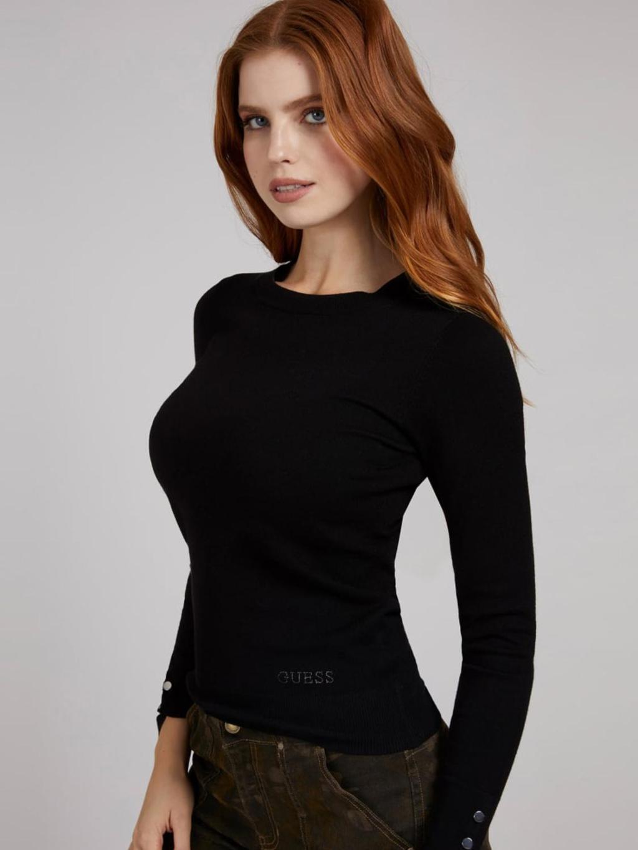 maglione nero GUESS   Maglieria   W1YR02Z2V60NERO