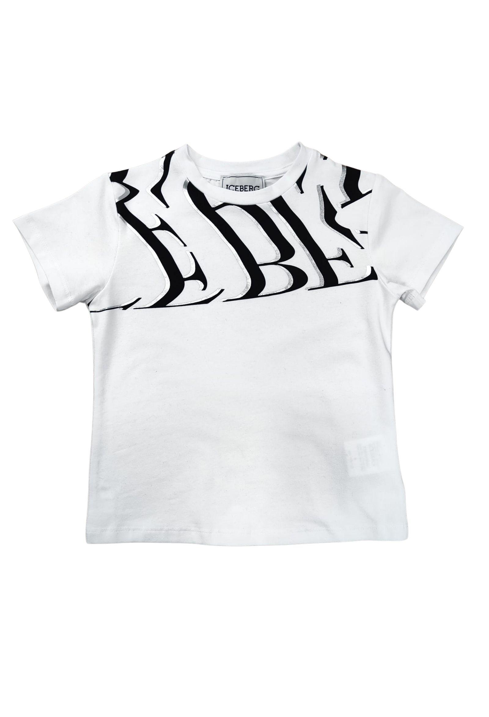 t-shirt mezza manica logo optical iceberg   T-shirt   TSICE2362JBIANCO