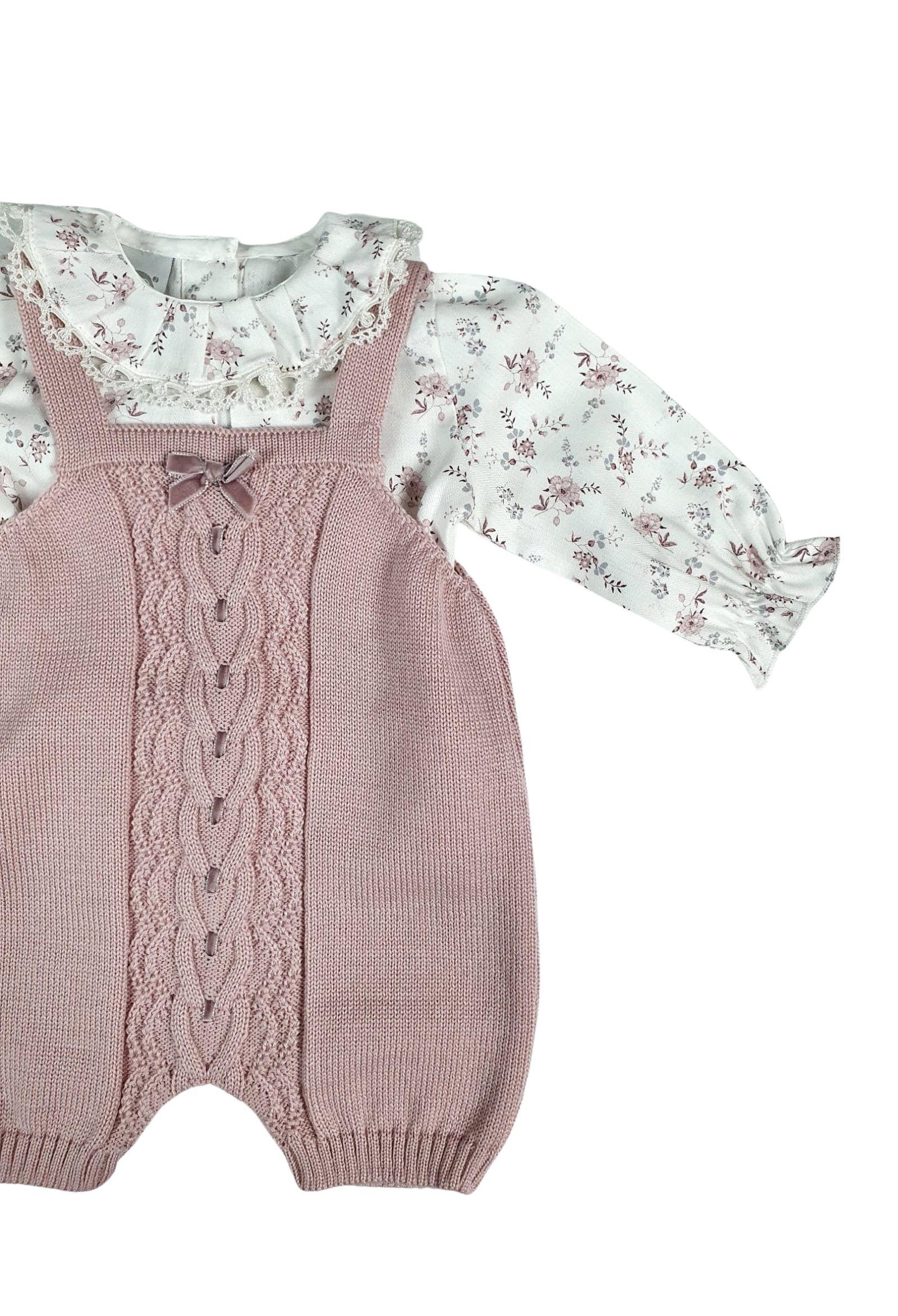 salopette in lana marsala con camicia fantasia marlu | Tutine | IC1030MARSALA