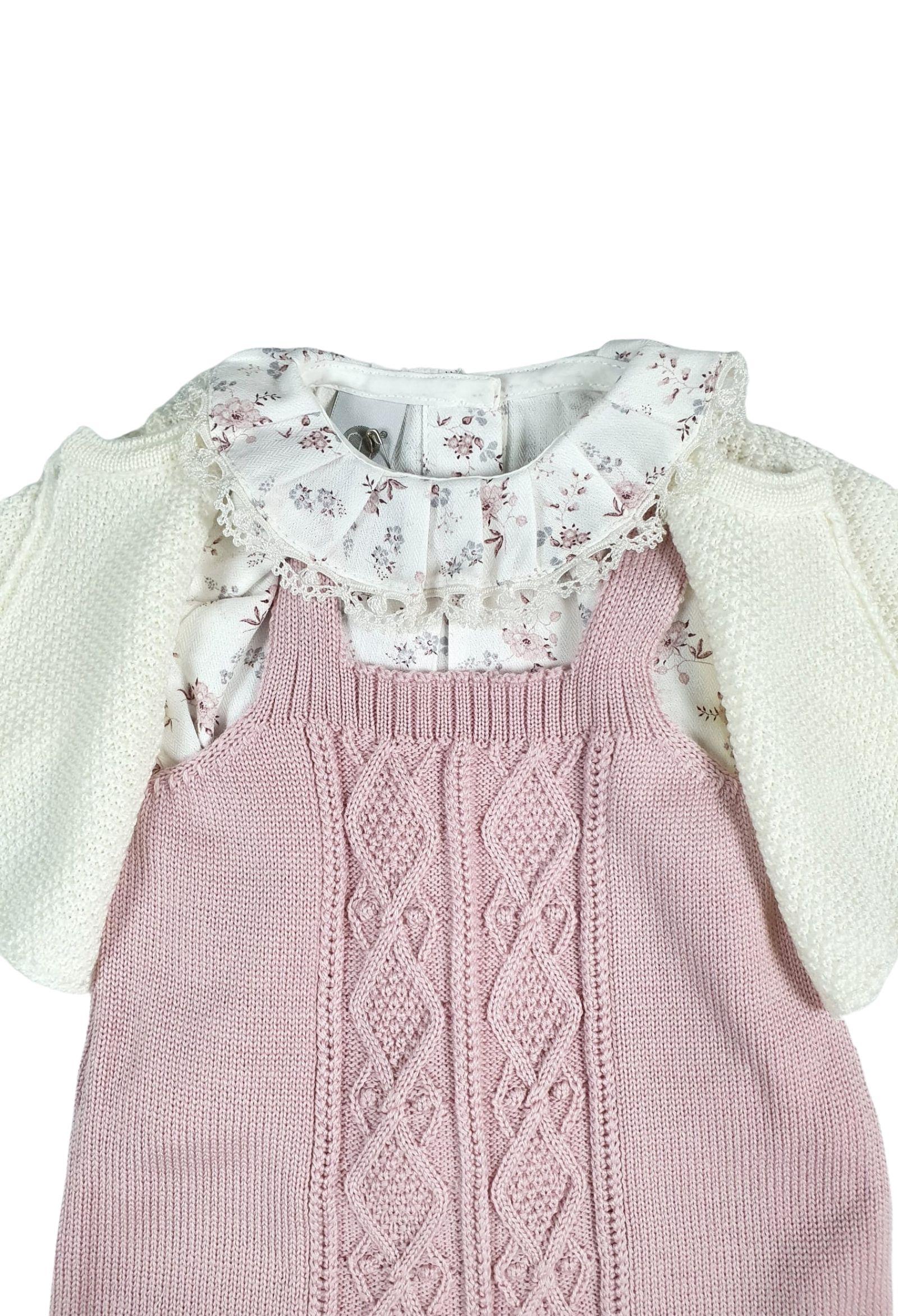 completo 3 pezzi in lana color vaniglia e marsala marlu   Tutine   IC1660VANIGLIA MARSALA