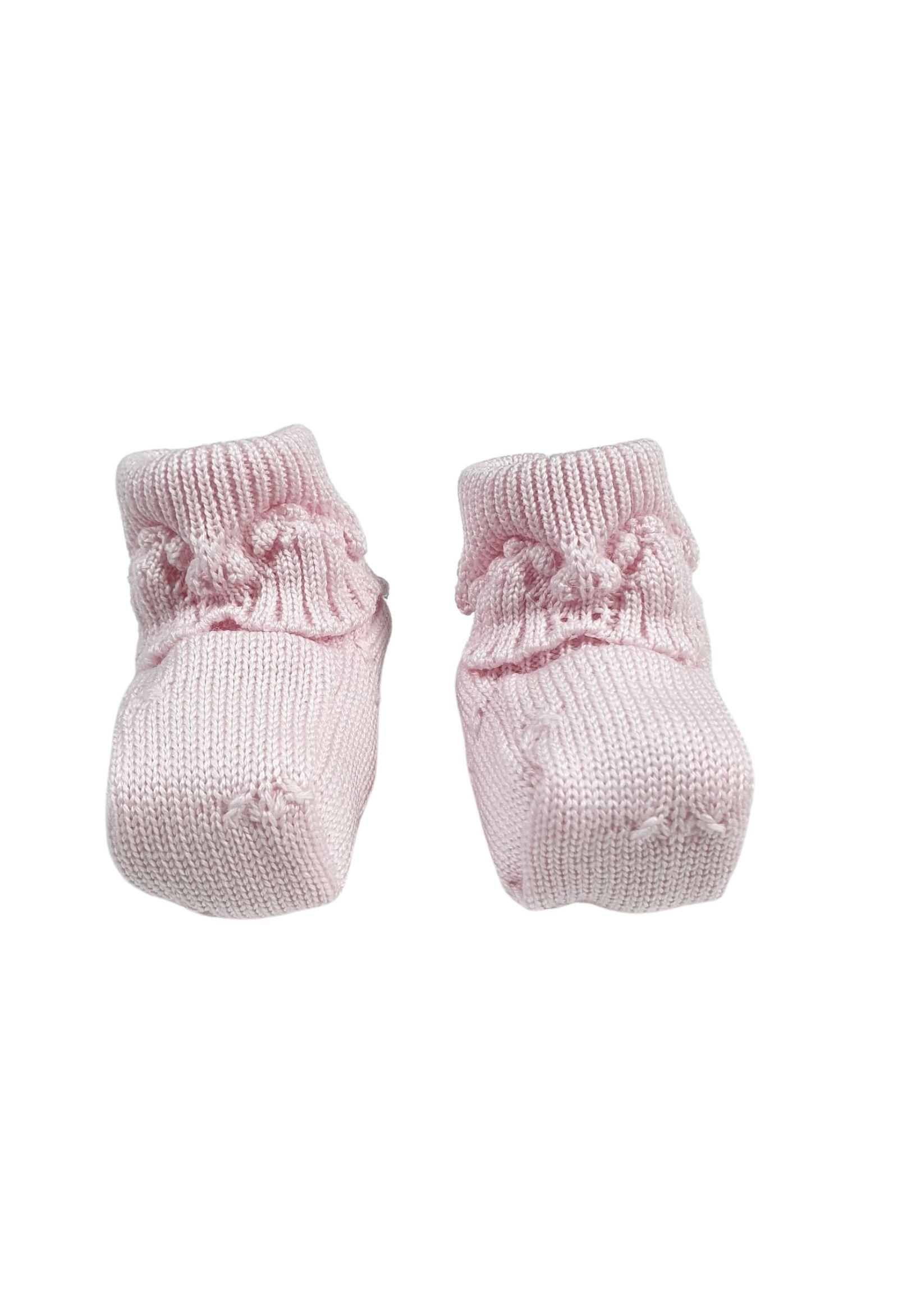 Scarpa calzino in lana rosa marlu | Scarpe | IC17SROSA