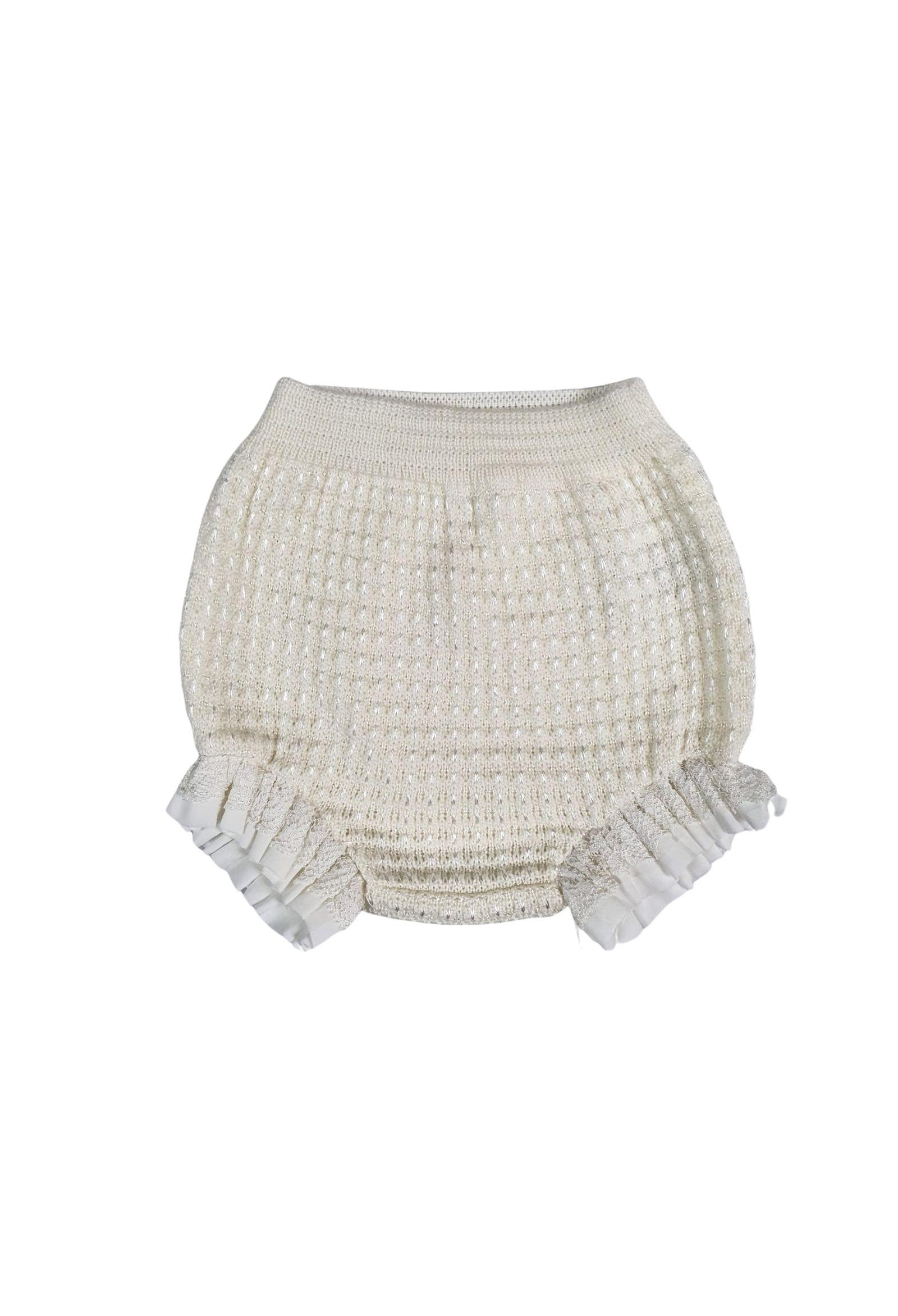 tutina con culotte in lana vaniglia marlu | Tutine | IC2319VANIGLIA