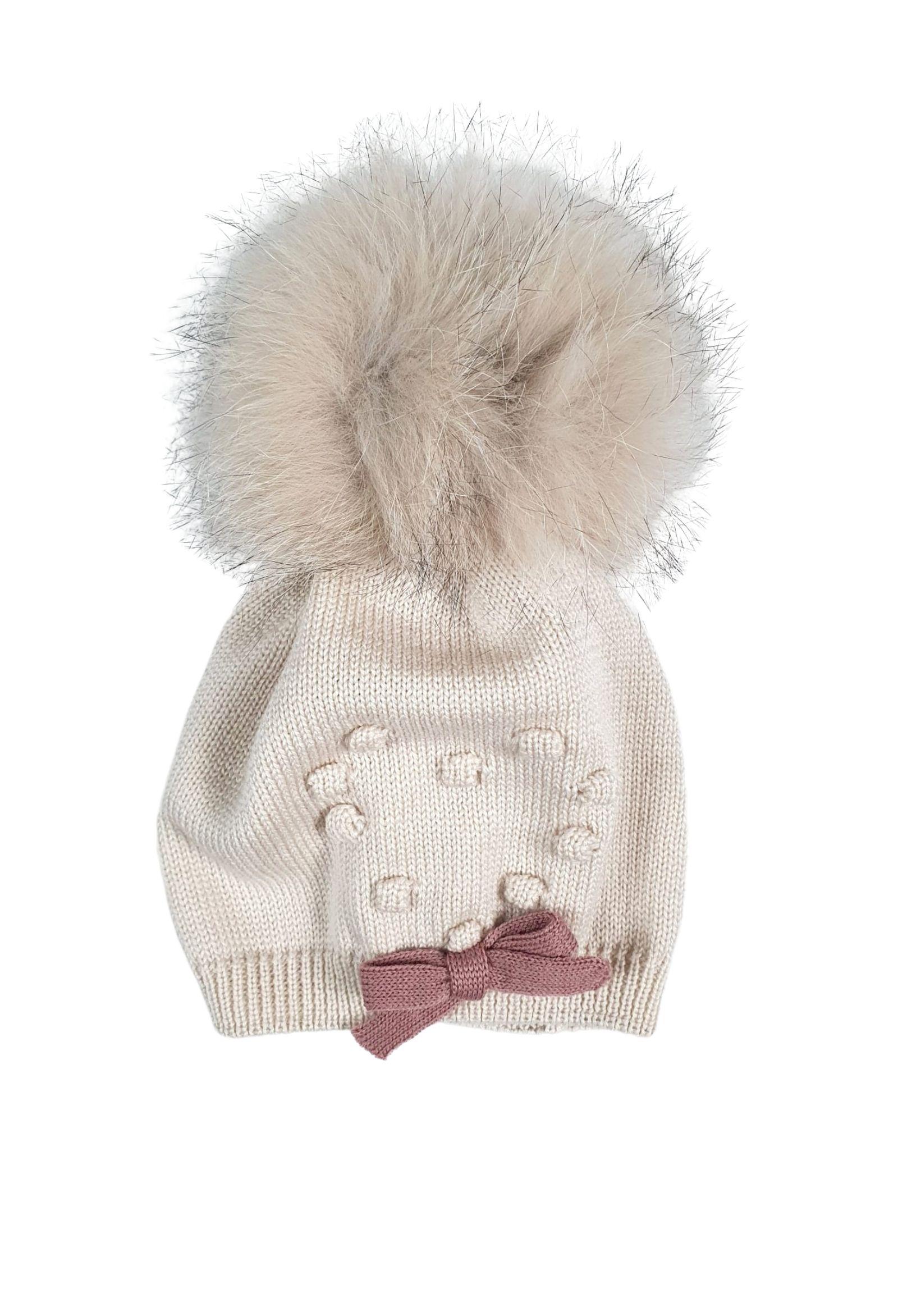 cappello in lana con pon pon marlu   Cappelli   IC2471MELOGRANO
