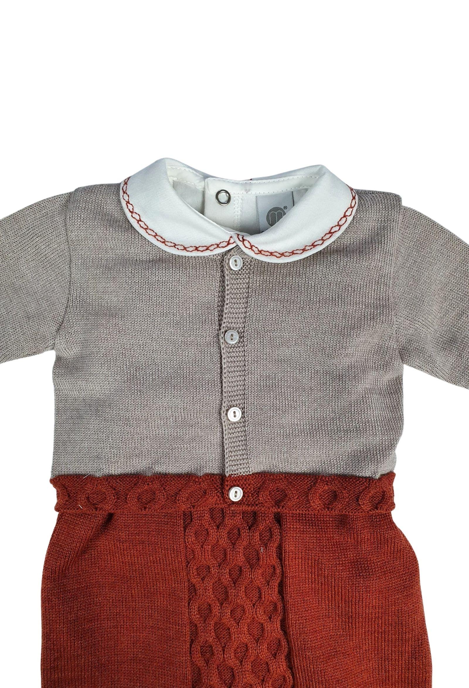 completo 3 pezzi in lana con camicia color ruggine marlu | Tutine | IC5661RUGGINE