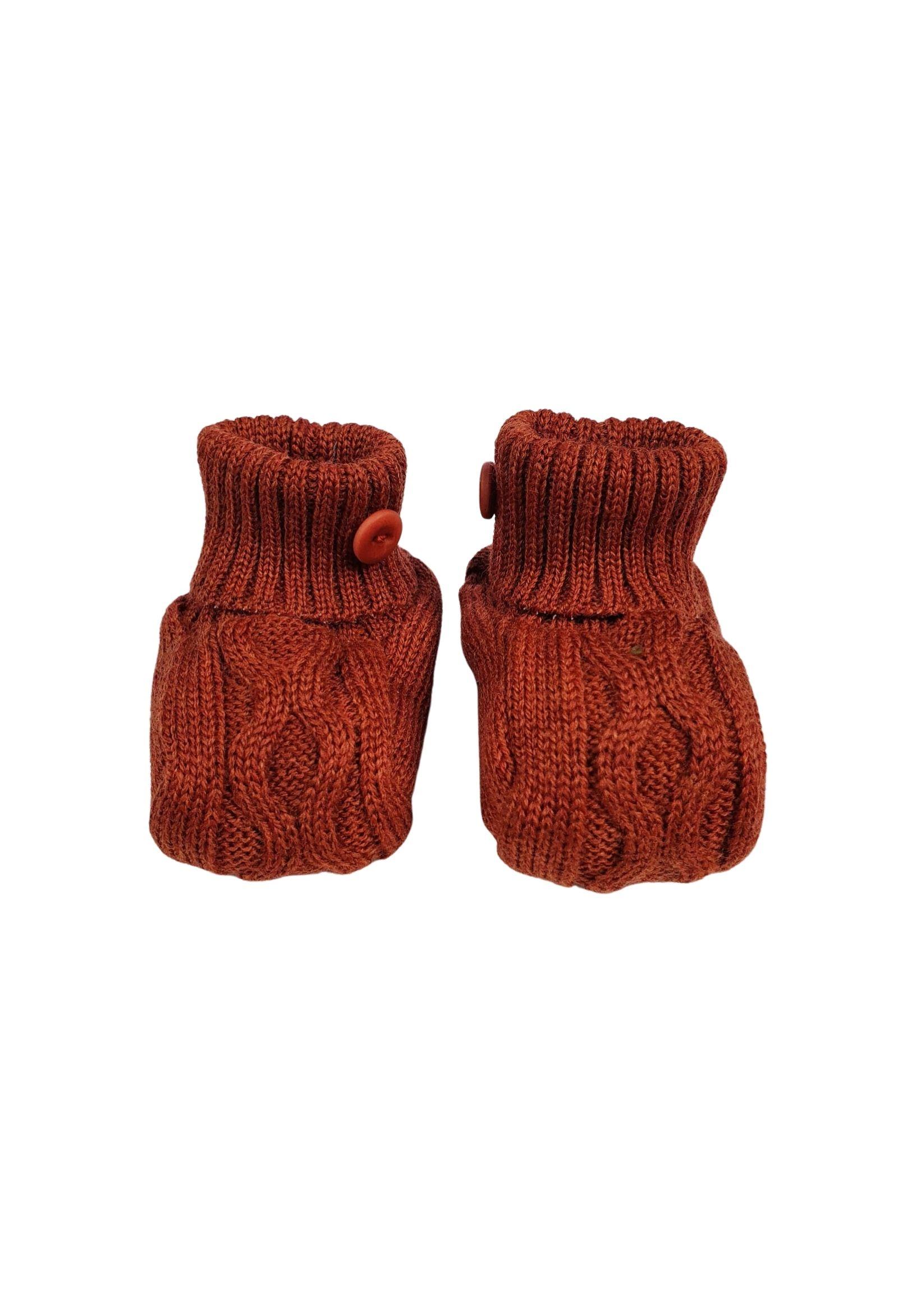 Scarpa calzino in lana ruggine marlu | Scarpe | IC56SRUGGINE