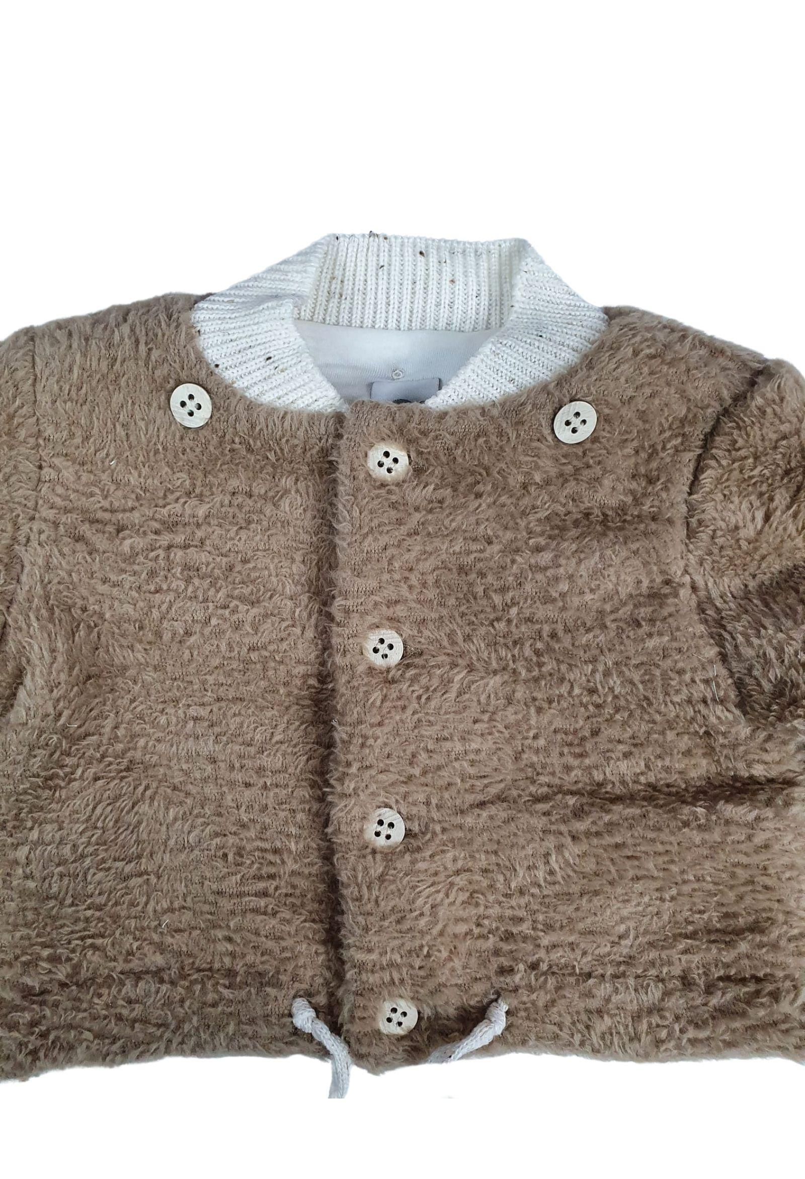 cappottino in pelliccia con cappuccio removibile nocciola marlu   Capispalla   IC5943NOCCIOLA