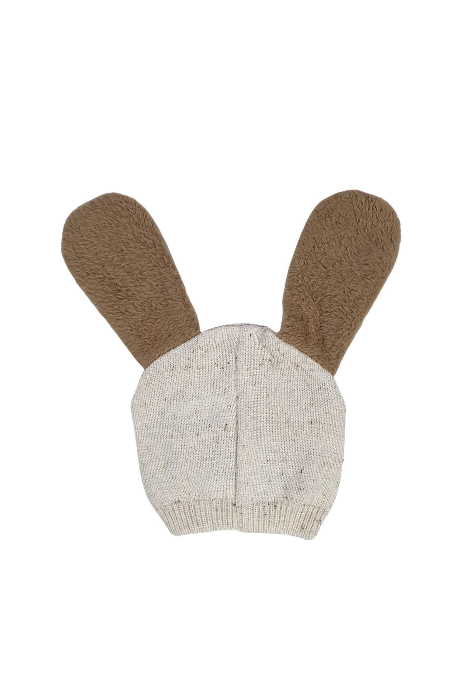 cappello in lana con orecchie color  panna e cacao marlu   Cappelli   IC5975PANNA CACAO