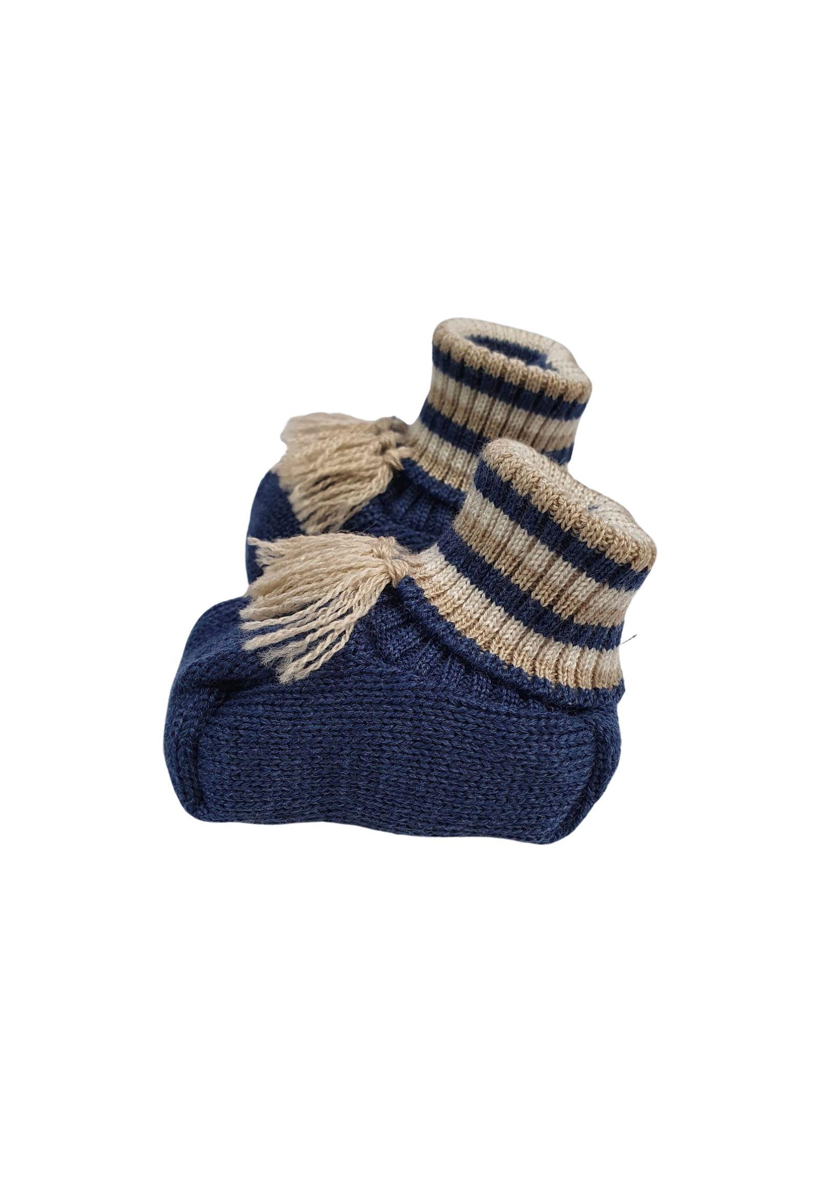 Scarpe calzino in lana blu marlu   Scarpe   IC65SBLU