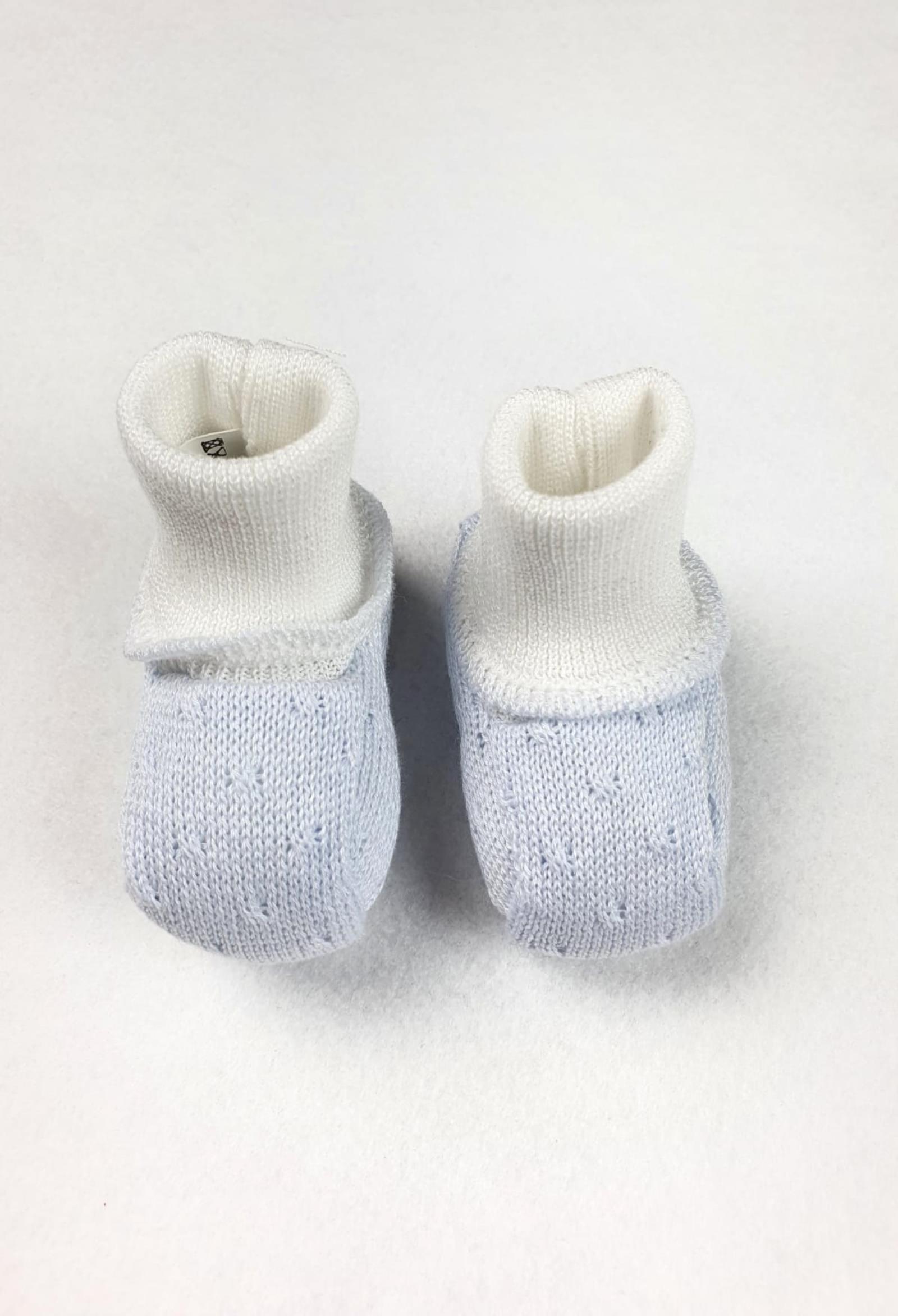 scarpine in cotone azzurra e bordo bianco marlu | Scarpe | EC67SUNI