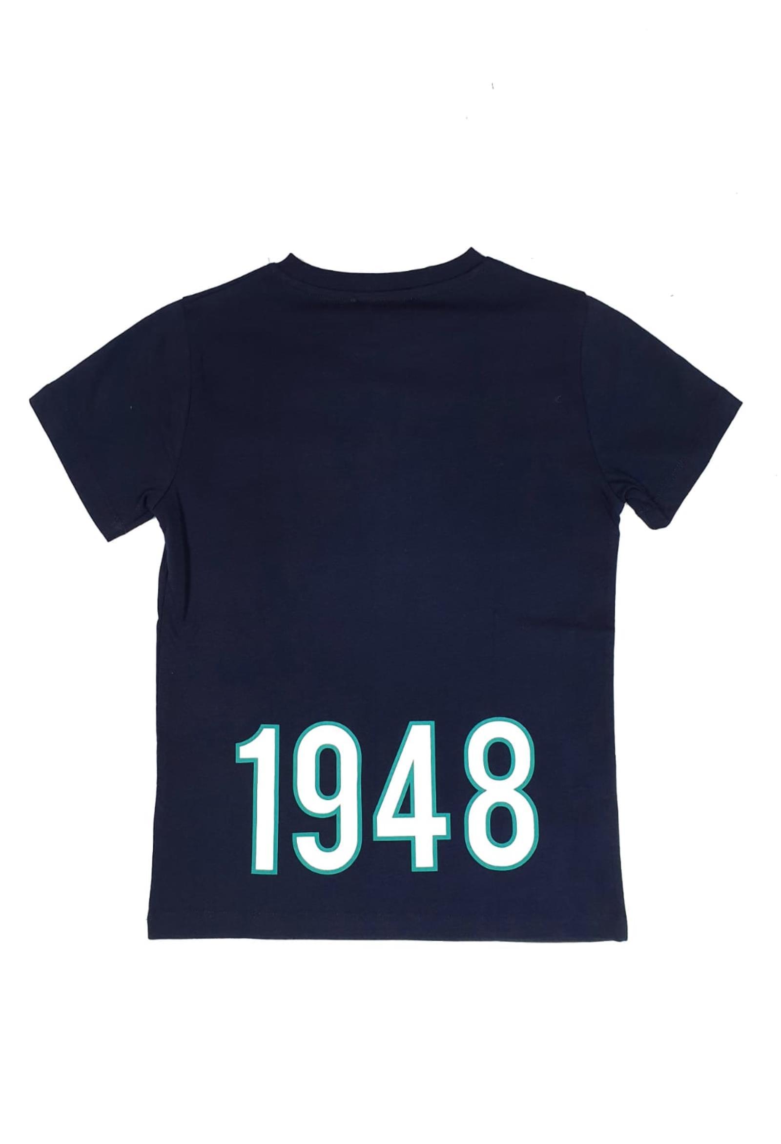 T-SHIRT BLU STAMPA POSTERIORE 1948 cesare paciotti   T-shirt   TSP1121JUNI