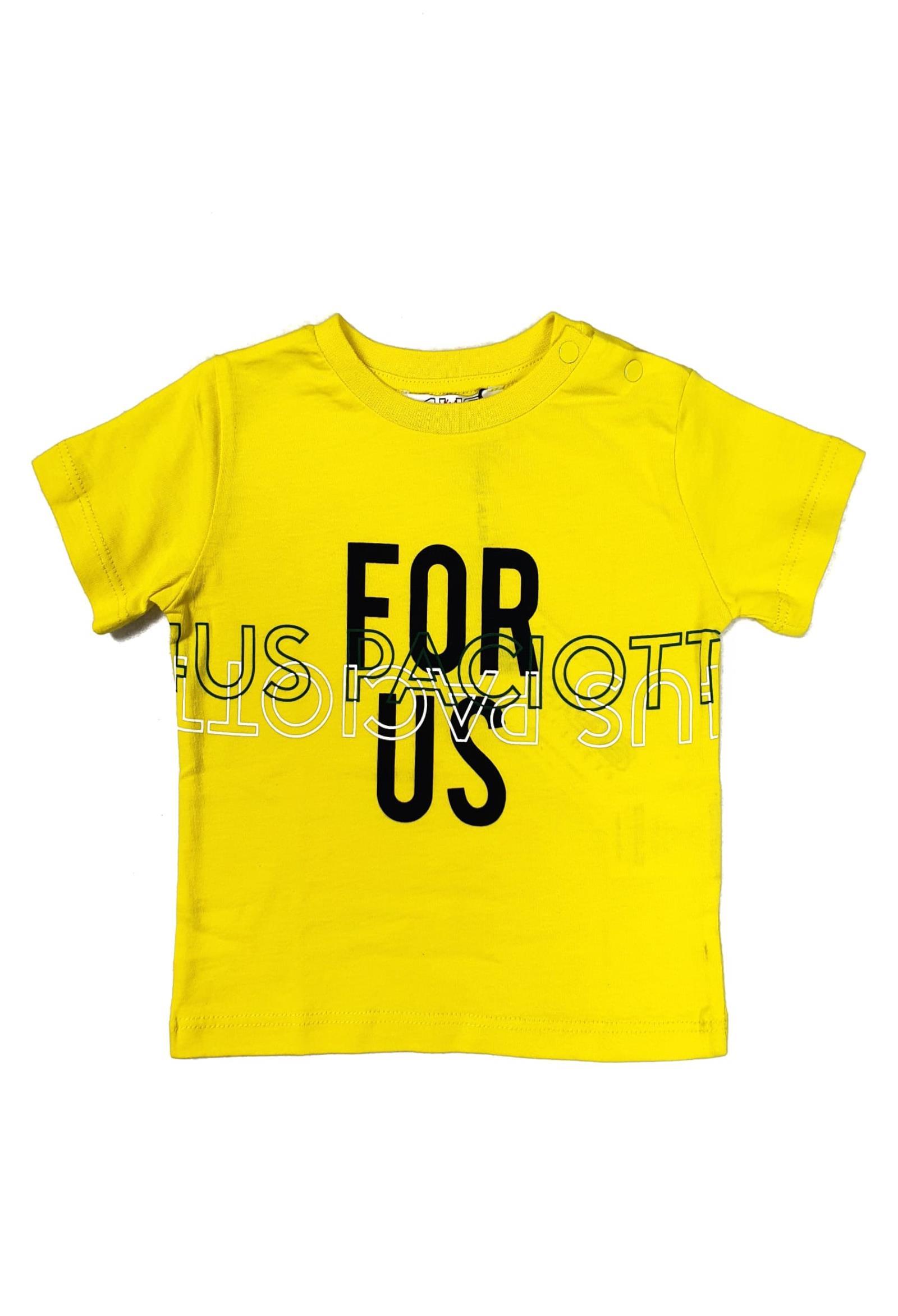 T-SHIRT GIALLA CON STAMPA LOGO FRONTALE cesare paciotti | T-shirt | TSP1140BUNI