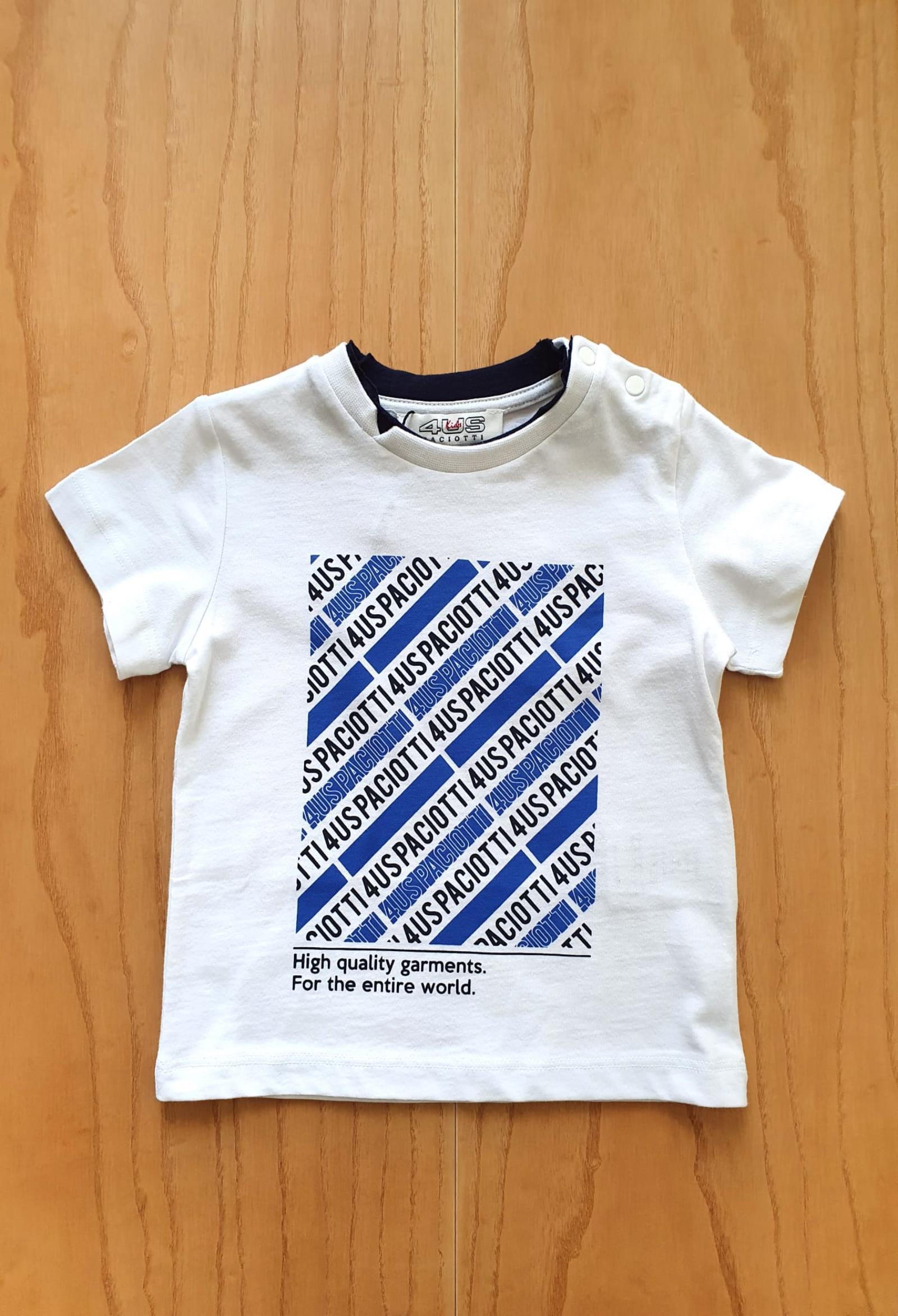 T-SHIRT BIANCA STAMPA FRONTALE SCRITTE 4USPACIOTTI cesare paciotti   T-shirt   TSP1141BUNI