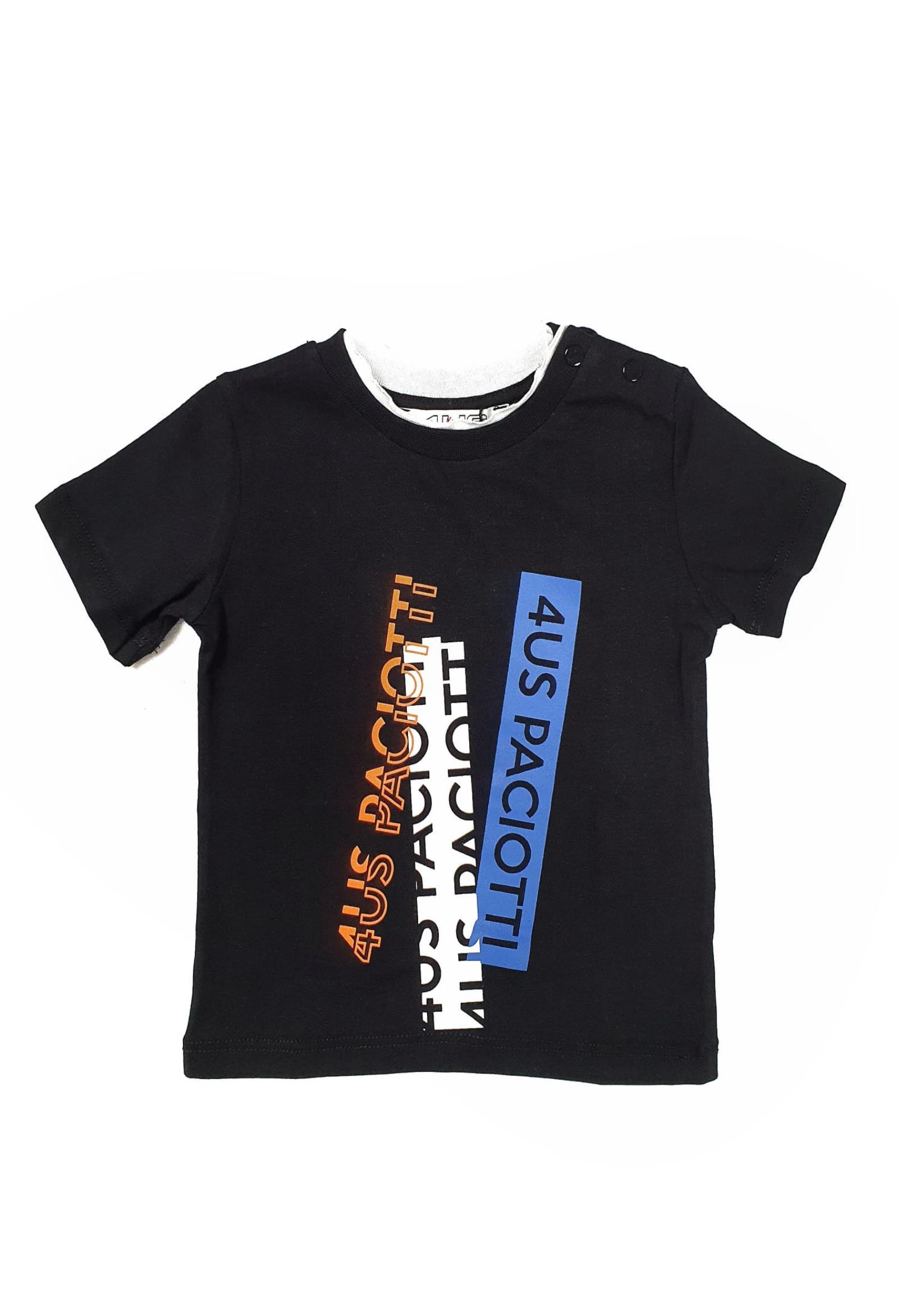 T-SHIRT NERA CO SCRITTE FRONTALI cesare paciotti | T-shirt | TSP1160BUNI