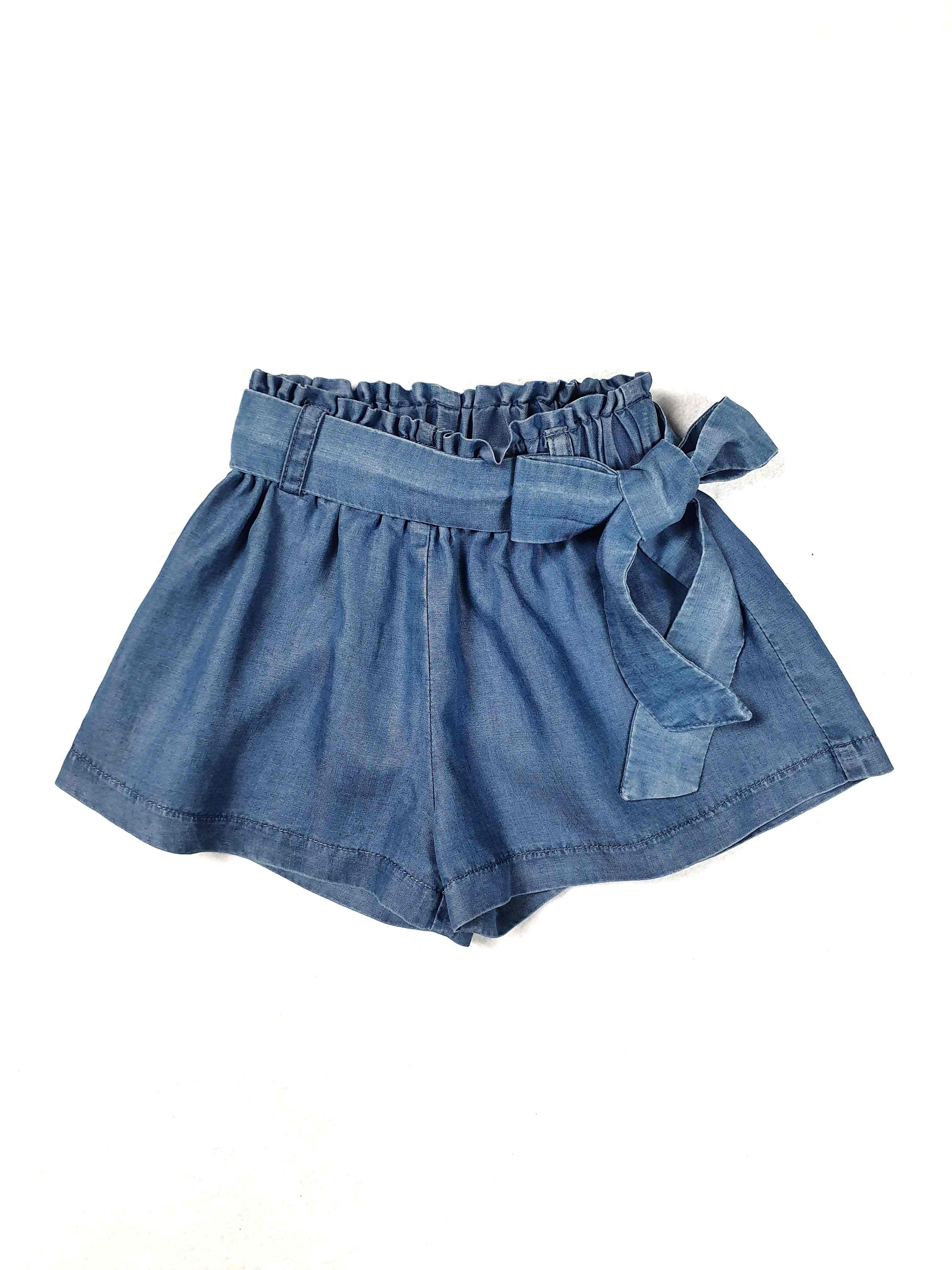 short in cotone modello denim con fascia in vita elsy | Gonna e Shorts | CAYETANAUNI