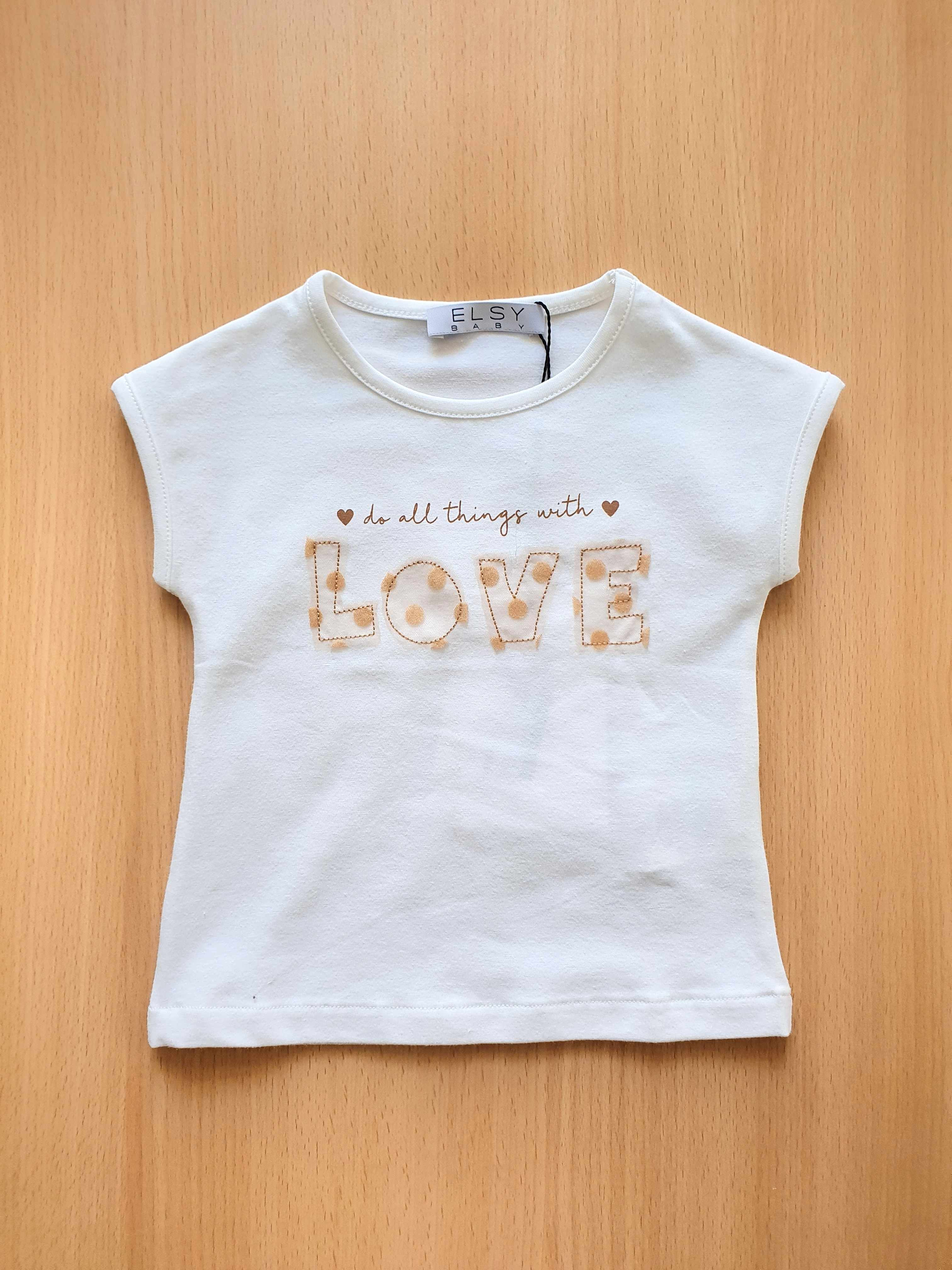 t-shirt in cotone bianca stampa frontale elsy | T-shirt | REESEUNI
