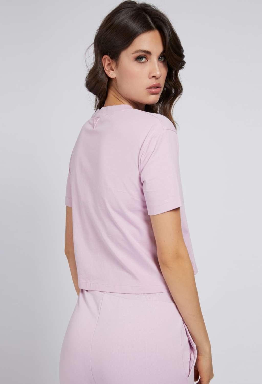 T-SHIRT LILLA GUESS GUESS beachwear | T-shirt | 01GA06K8HM0CREMA