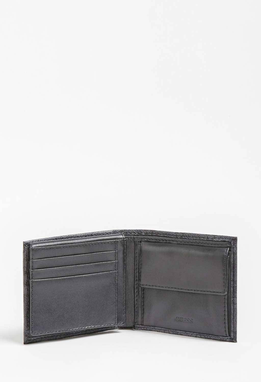Portafoglio nero logato guess GUESS borse man   Portafogli   VEZLLEA24BLACH