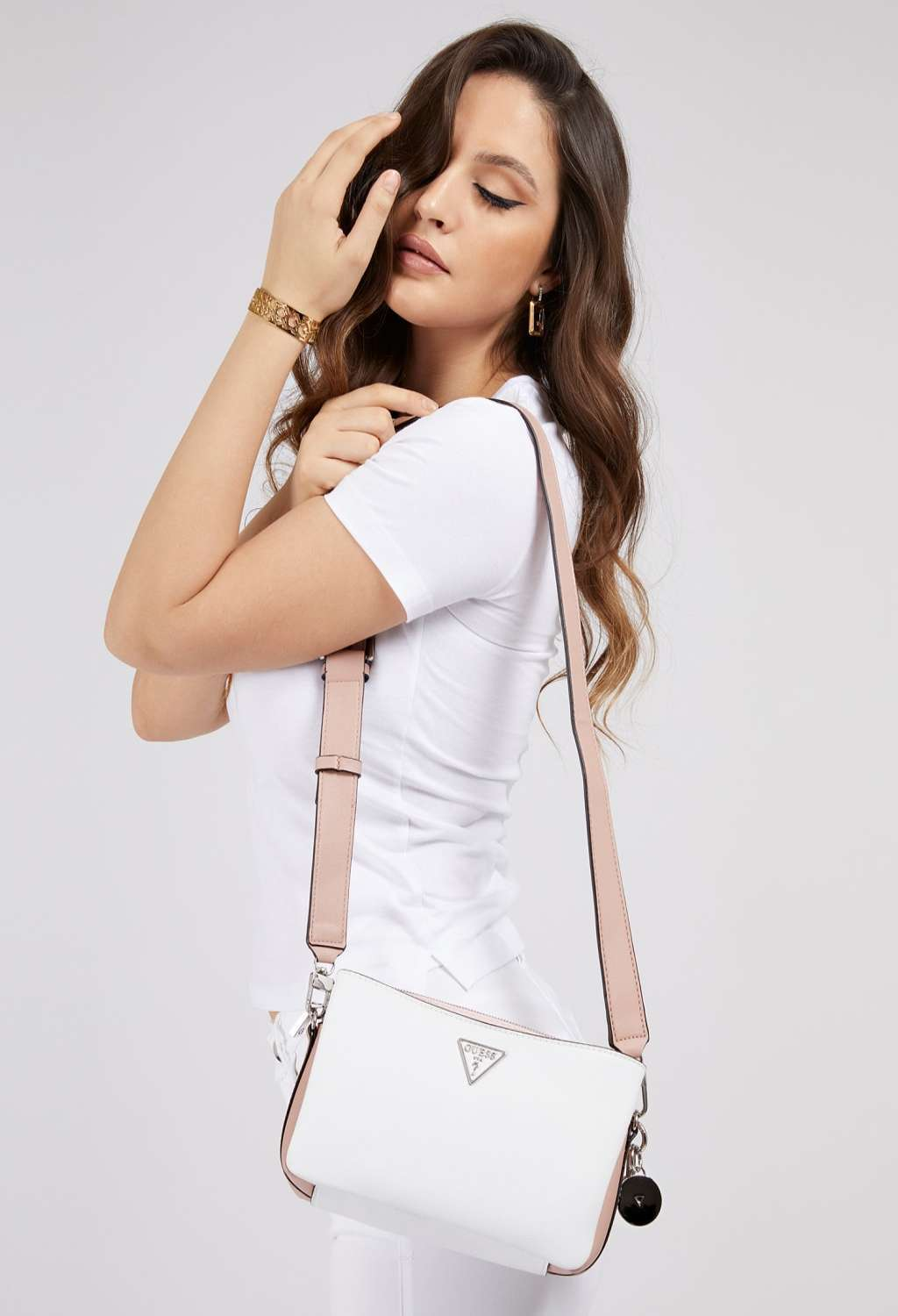 Tracolla bianca guess GUESS borse | Borse | VY8108140WHITE