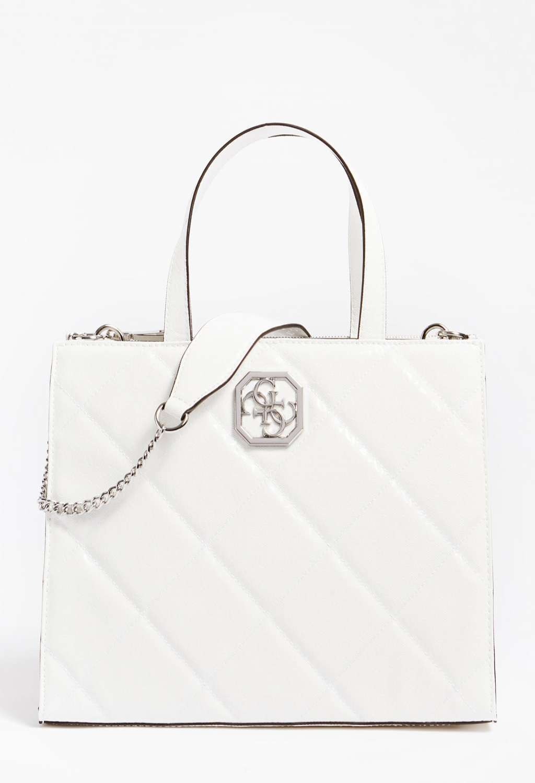 Shopper bianca guess GUESS borse | Borse | WY7971070WHITE