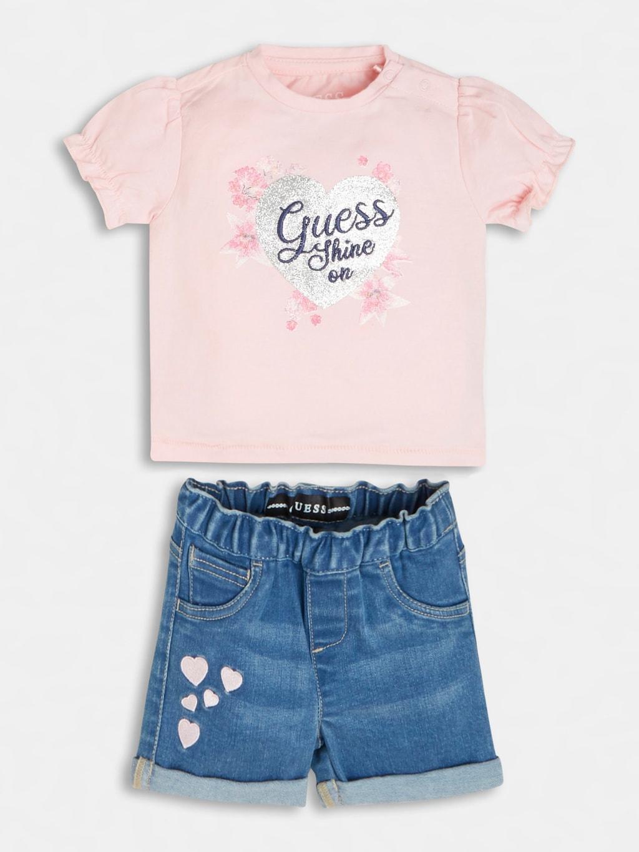 set 2 pezzi t-shirt e short in denim GUESS kids   Set   A1RG09K6YW0G600