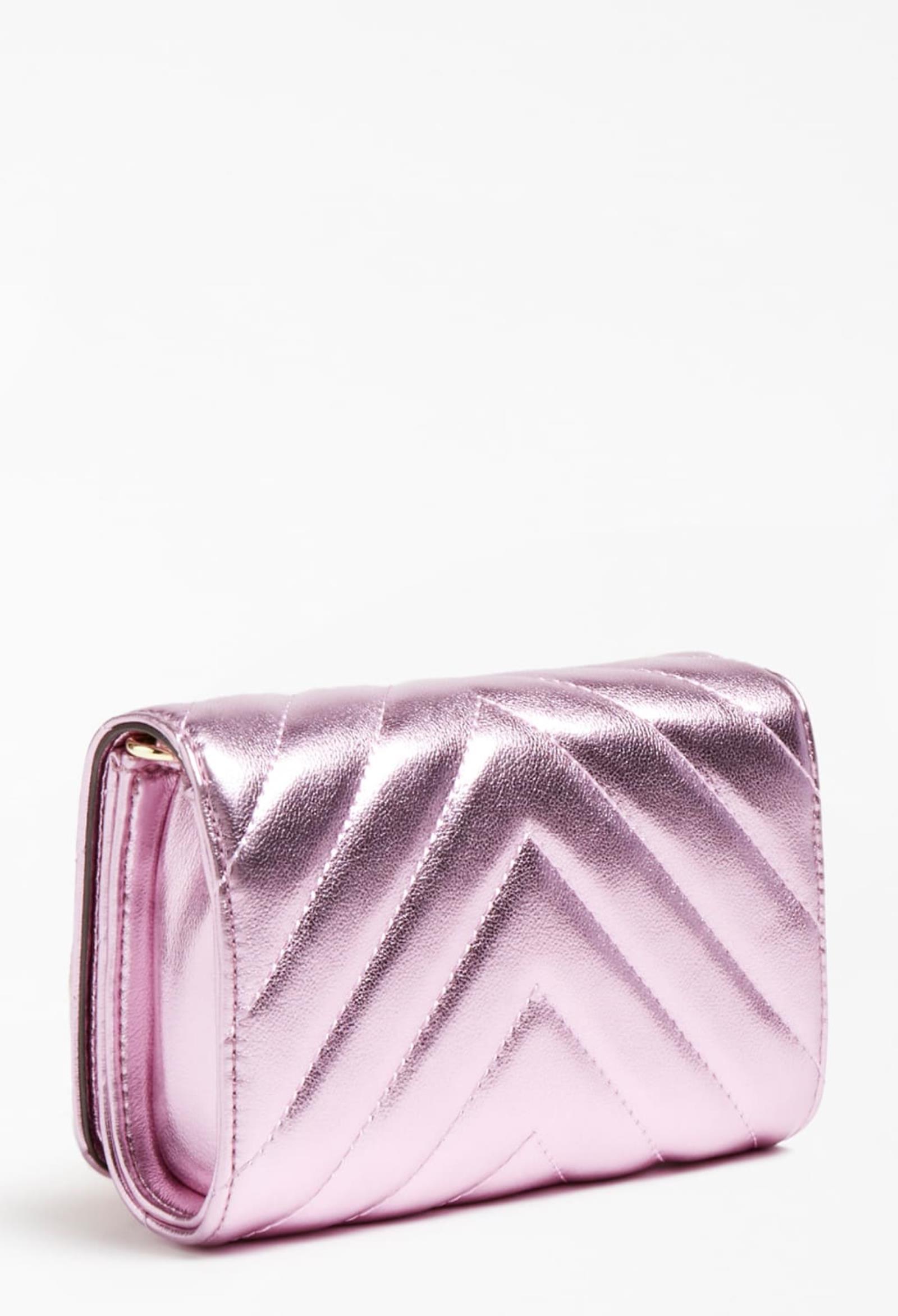 mini bag con tracolla rosa e borchie oro GUESS kids   Borse   HGKAT2PU211PINK