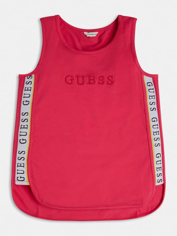 top in cotone rosa con bande laterali logate GUESS kids | T-shirt | J1GI21K6YW1JLPK