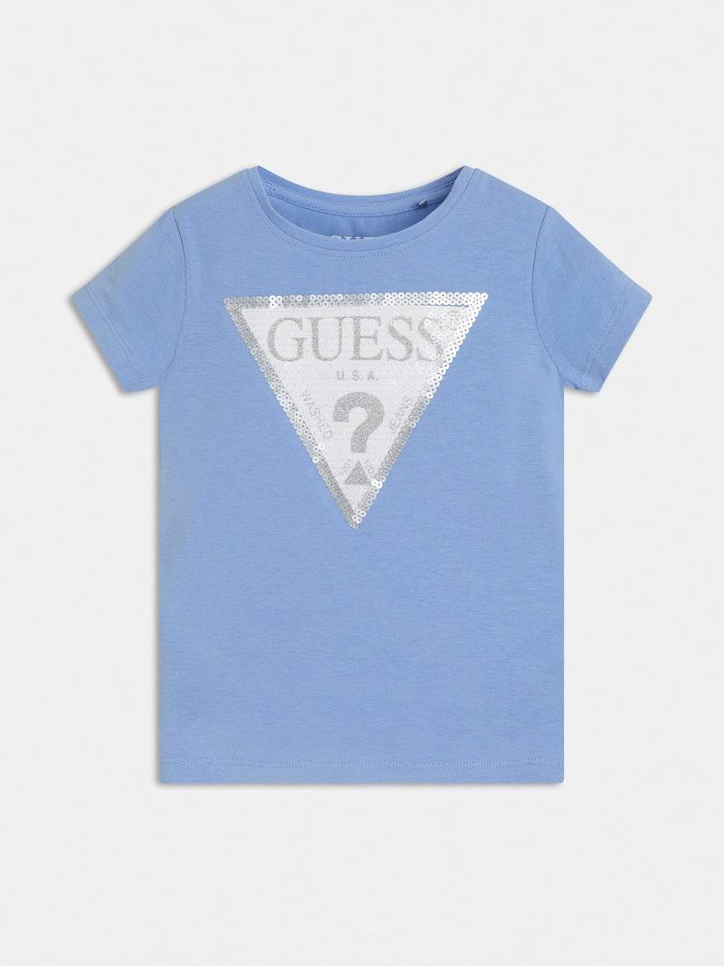 t-shirt mezza manica con logo in pailette frontale GUESS kids   T-shirt   K1RI19K6YW1G730